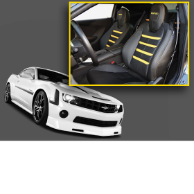 Havoc Yellow Accent Camaro Interior Upgrade Kit