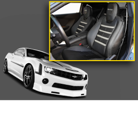 Light Gray Accent Camaro Interior Upgrade Kit